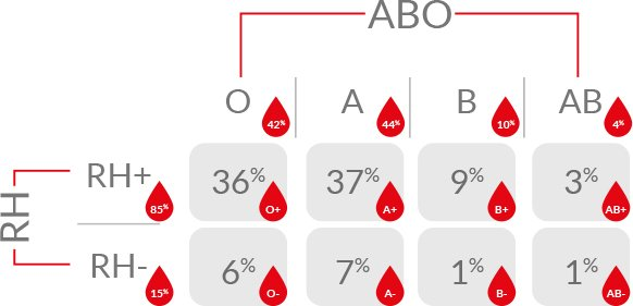 Répartition Et Compatibilité Des Groupes Sanguins Service